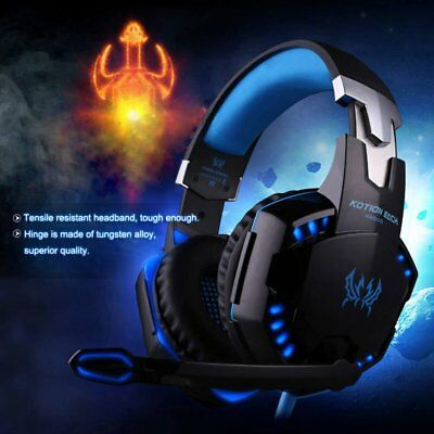 EACH G2000 Pro Game Gaming Headset 3.5mm LED Stereo PC Headphone  Microphone BG