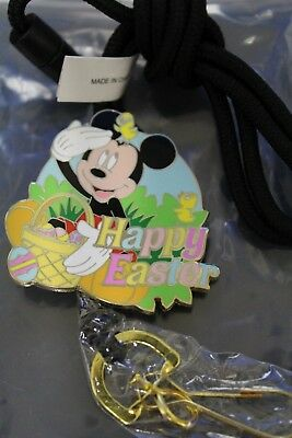 Disney Cast Member Exclusive HAPPY EASTER Mickey Mouse bolo lanyard