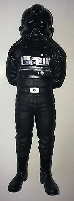 "Vintage 1997 STAR WARS TIE FIGHTER PILOT 9-1/2"" Vinyl PVC Statue Figure"