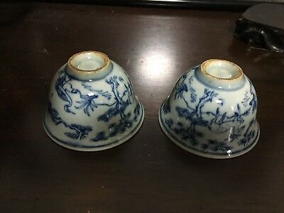 Chinese porcelain 2 tea cups