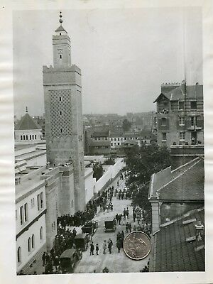 France Paris Mosque At Halle Au Vins Circa 1920 One Of A Kind Press Photo 9X7 In