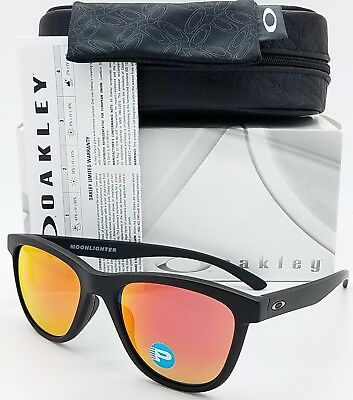 NEW Oakley Moonlighter sunglasses Black Ruby Polarized GENUINE moon red 9320-13
