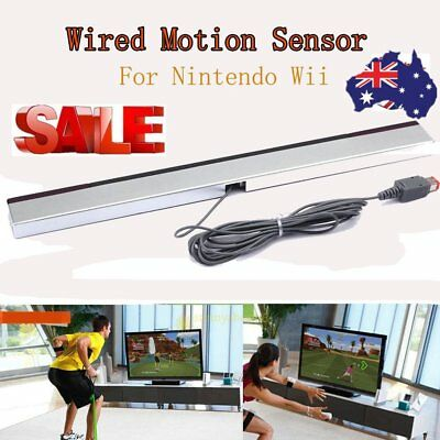 Wired Remote Infrared Ray IR Inductor Motion Sensor Bar for Nintendo Wii AU BG