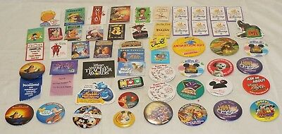 Genuine DISNEY Pins Lot of 54 Various Sizes and Shapes