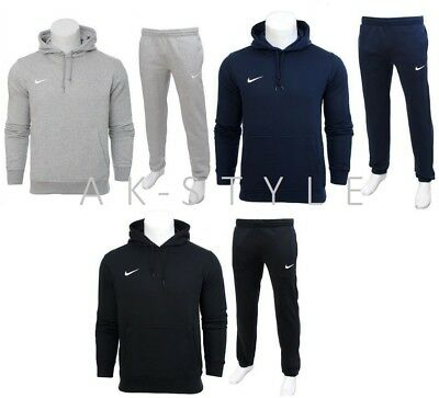 NIKE HERREN TRAININGSANZUG Fleece Jogging mit Kapuze Hosen
