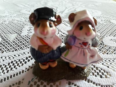 Wee Forest Folk M-160 Hans and Greta  Retired/MINT/Box