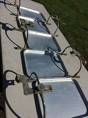 Vintage TraCo Drive In Car Hop Aluminum Food Tray w Adjustable Window Mount Lot