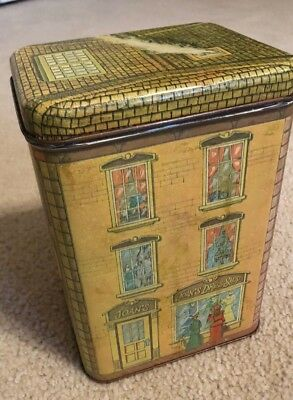 Vintage 1979 Chein village The Cookie House tin box container jar, VGC
