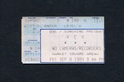 1989 R.E.M. Concert Ticket Stub Indianapolis IN Green Tour