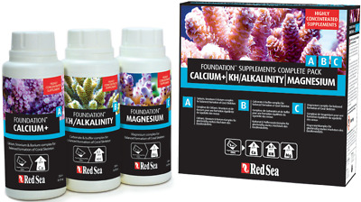 RED SEA FOUNDATION ABC SUPPLEMENTS COMPLETE PACK 3x250ML CALCIO+/KH/MAGNESIO
