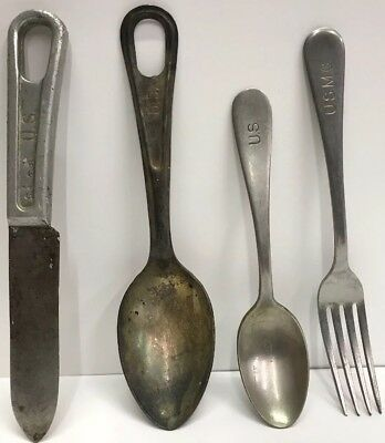 Vintage US Army/Military Flatware - Spoons, Knife and a Fork Nice Set