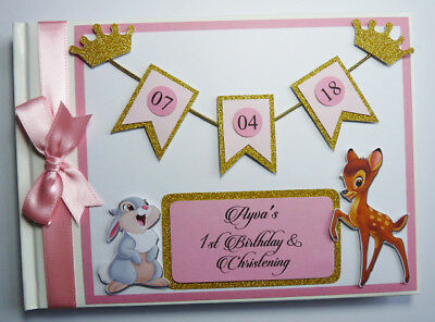 Bambi Birthday / Baby Shower Guest Book / Scrapbook - Any Design