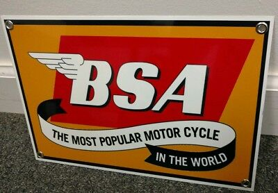 BSA British Motorcycle sign