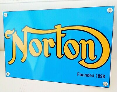 Norton British Motorcycle sign