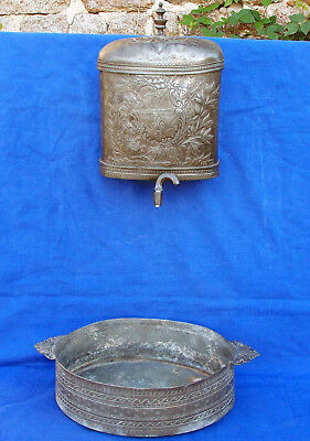 Very Rare 18th century French engraved Revolutionary pewter fountain circa 1790