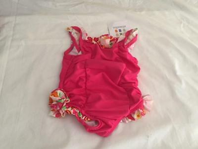ABSORBA Baby Girls 12m (9-12m) Pink Swimsuit with cute ruffles