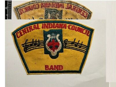 Boy Scouts AMERICA , BSA Patch , CENTRAL INDIANA COUNCIL , BAND  , SCOUTS patch