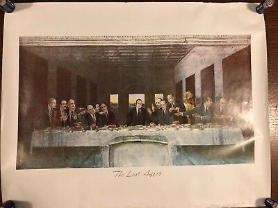 RICHARD NIXON WATERGATE 1970'S POSTER art republican The Last supper President.