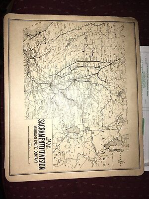 Two Maps of SP Co  Shasta, Sacramento Divisions Time Table 1956