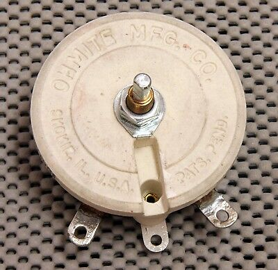 Ohmite Rks1R0E 1 Ohm 10 Amp Single Turn Rheostat Nib! Suggested Retail $127.84!