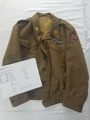 WW2 8th Air Force ETO Jacket Named RARE