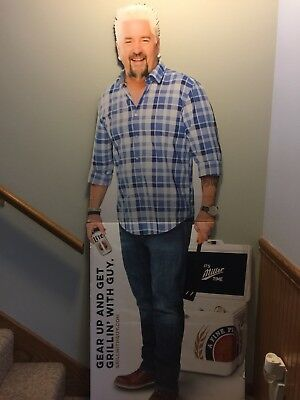 Guy Fieri Miller Lite College Football Beer Sign Cardboard/Standee/Stand Up/New