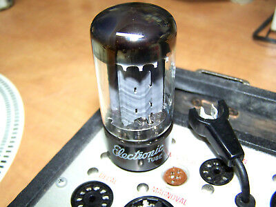 Beautiful GE / MULLARD 5AR4 tube rectifier with f32 B6C1 date code.Tests strong.
