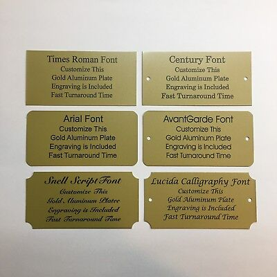 2x4 Laser Engraved Gold Aluminum Plate Custom Personalized Plaque Trophy-Sign