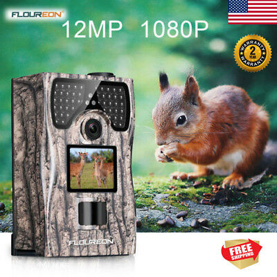 1080P 12MP Trail Camera Voice Video Wildlife Hunting Cam Night Vision Waterproof