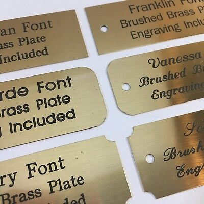 1x3  Engraved Solid Brushed Brass Plate Custom Personalized Plaque Trophy Sign