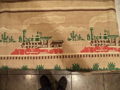 Vintage Mid Century Curtains Drapes Country  Trains America