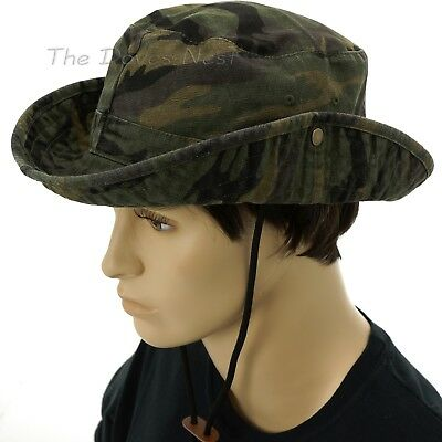 URBAN PIPELINE Young Men's S/M Green CAMOUFLAGE Print BOONIE HAT Side SNAPS