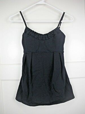 d40968682c5b5 LULULEMON WOMENS TANK Top Blue Black Print Built in Sport Shelf Bra ...