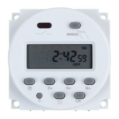 DC 12V Digital LCD Power Programmable Timer Time Switch Relay 16A Amps V7L8) TP