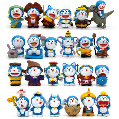 Doraemon Robot Q Version Cat-Like Anime 24 PCS Action Figure Cute Doll Gift Toy