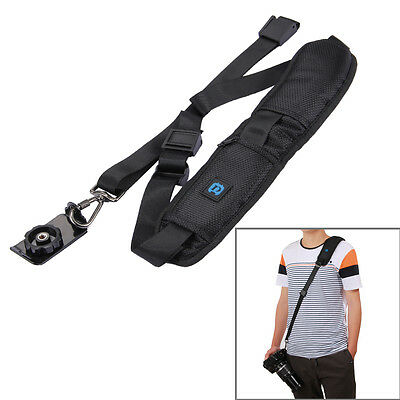 Quick Release Anti-Slip Soft Single Shoulder DSLR Camera Strap,with Metal Hook