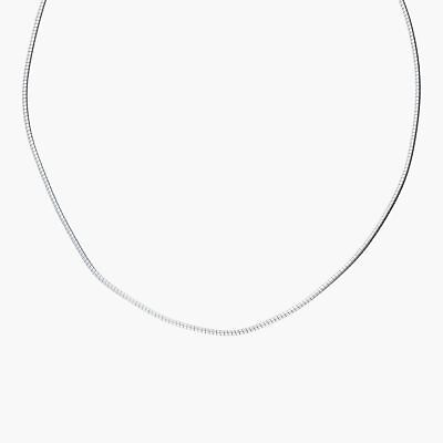 """goodbyebabylon / sterling silver 2mm round omega chain / necklace 16"""" (7.5g)"""