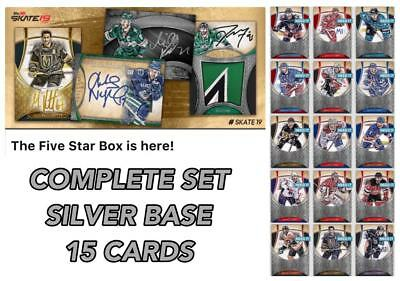 18-19 FIVE STAR SILVER BASE COMPLETE SET OF 15 CARDS Topps NHL Skate Digital