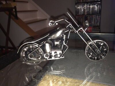 Scrap Metal Motorcycle Shop Art Statue