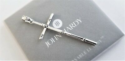 John Hardy - Sterling Silver Bamboo Collection Large Cross Pendant - Stunning!