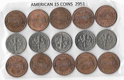 American 15 Coins Mixed