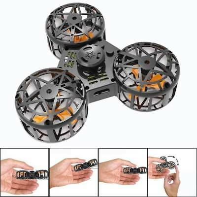 Tiny Toy Drone Flying Fidget Spinner Stress Relief Flying Gyroscop USB Xmas Gift