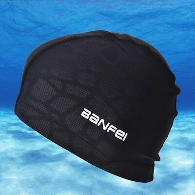 Swimming Cap EASY FIT Adult Nylon Spandex Fabric Hat Women Men Swim Cloth AU