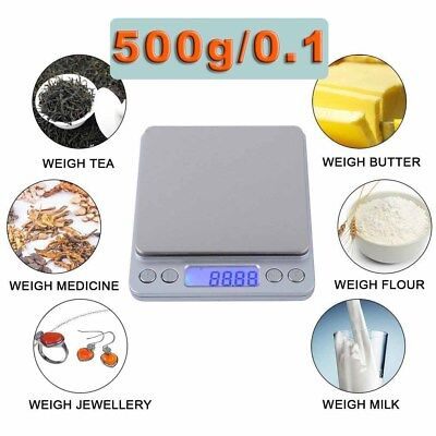 0.01-500g KitchenKitchen Food Scale Digital LCD Electronic Balance Weight Scale