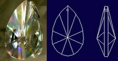 76mm Asfour Teardrop Crystal Prisms Garden, Lawn, Supply, Maintenance X2X3) TP