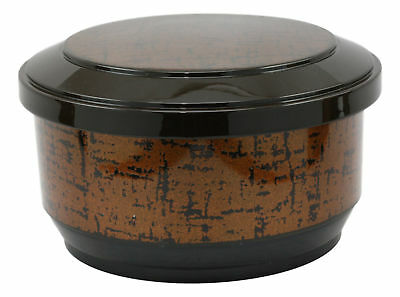 Japanese Style Ohitsu Gold Rice Container Serving Bowl & Scoop