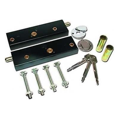 Garage Door Bolt Locks for Extra Security - One Pair Operated On Same Key