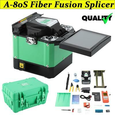 A-80S FTTH Optic Fiber Fusion Splicer&Cleaver Fiber Welding Splicing Machine Kit