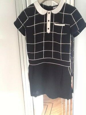 M&S Girls  Smart B/W Short Sleeve All in One  Playsuit Age 9-10 Years
