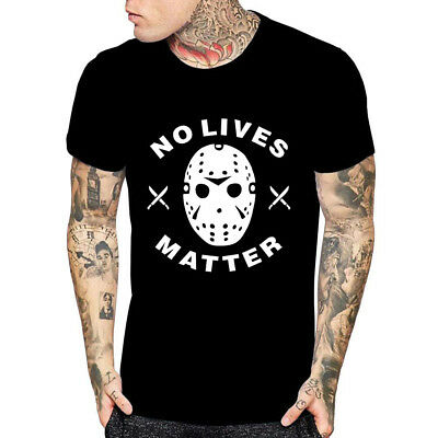 No Lives Matter Halloween T Shirt Friday The 13th Horror Movie Scary Tees
